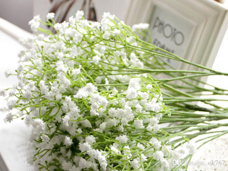 Gypsophila silk baby breath Artificial Fake Silk Flowers Plant Home Wedding Party Home Decoration