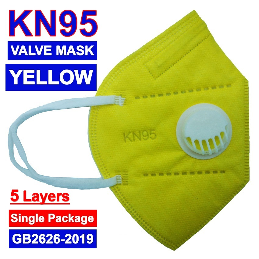 KN 95 2 Valve Mask DHL Face Mask With Double BreatheValve Respirators Black Gray White Blue Pink Yellow Mask