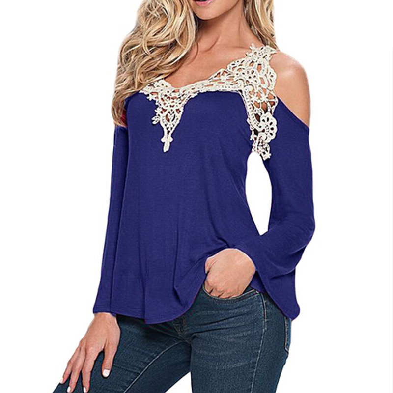 5XL-Blouse-Women-V-Neck-Lace-Crochet-Shirts-Plus-Size-Female-Casual-Shirts--Long-Sleeve