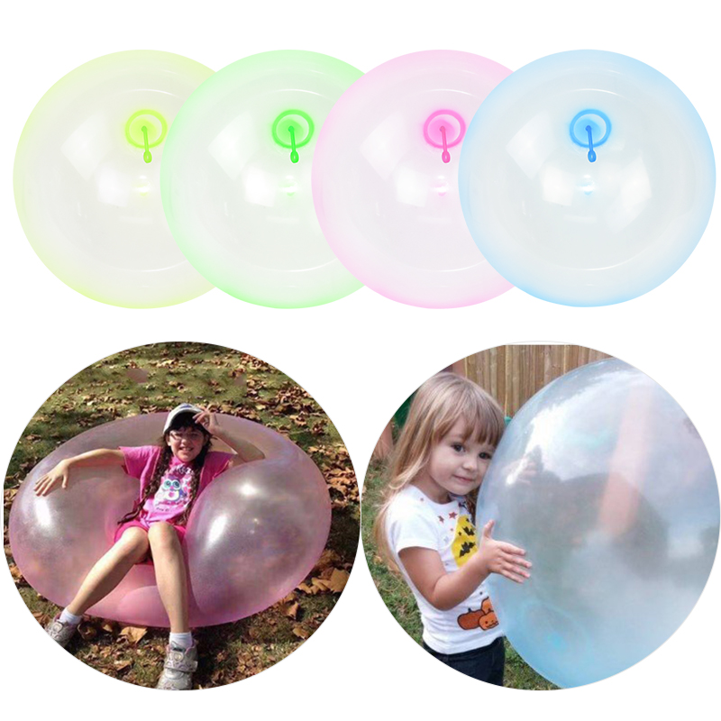 OMFMF Inflatable Bubble Ball,Bubble Ball Toy for Adults Kids Inflatable Water Ball Beach Garden Ball Soft Rubber Ball Outdoor Party