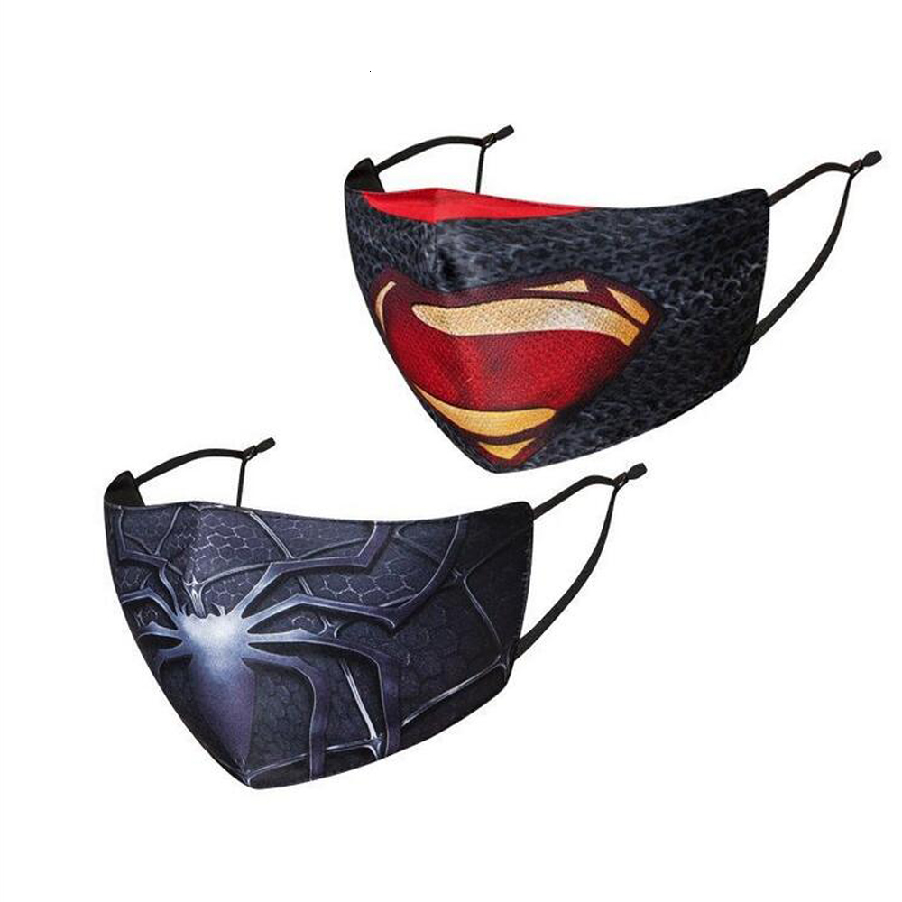 Hot designer face mask adlut mask riding cold protection new spiderman Batman superhero child mask captain shield punisher deadpool marvel