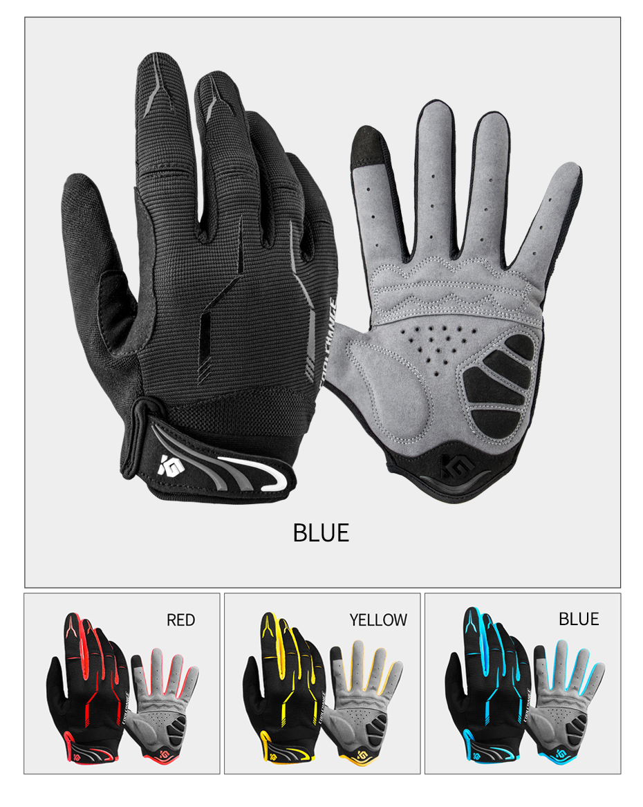 Bike Full Finger Black Luva Cycling Man Women Mountain Biking Gloves Motorcycle