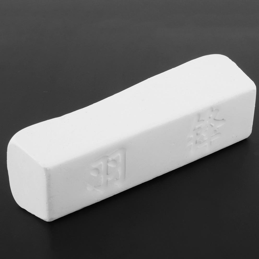1pc Green/White Compound Polishing Paste Metal Brass Grinding Abrasive Wax Polishing Soap Bar
