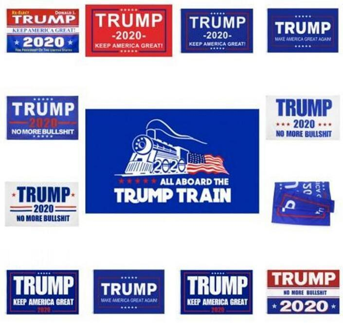 US Stock 2020 Election Trump Flags 90*150cm Polyester Printed Trump Flag Keep America Great Again President Campaign Banner DHL Ship FY6061