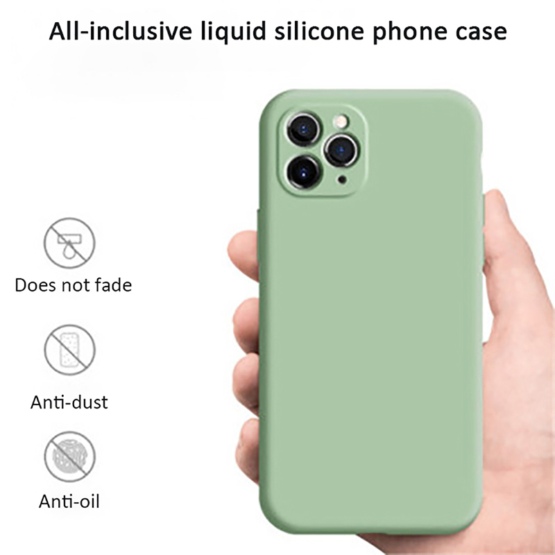Liquid Silicone Phone Case For iPhone 11 Pro Max XS XR XS MAX Multi Color Skin Feeling Back Cover For Huawei P30 P40