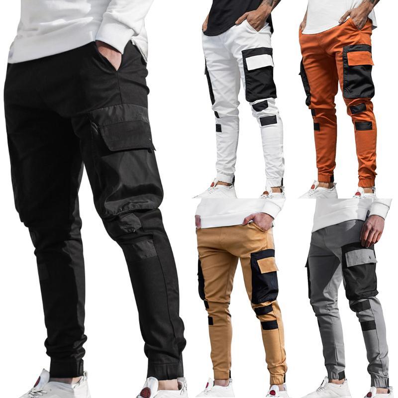 Men's Pants Mens Fashion Streetwear Multi Pockets Cargo Harem Hip Hop Casual Male Track Harajuku Joggers Trousers