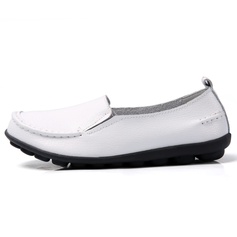2020 Spring Autumn Plus Size Casual Round Toe Women`s Shoes New PU Leather Flat Shoes Comfortable Slip-on Ladies Flats VT998 (10)