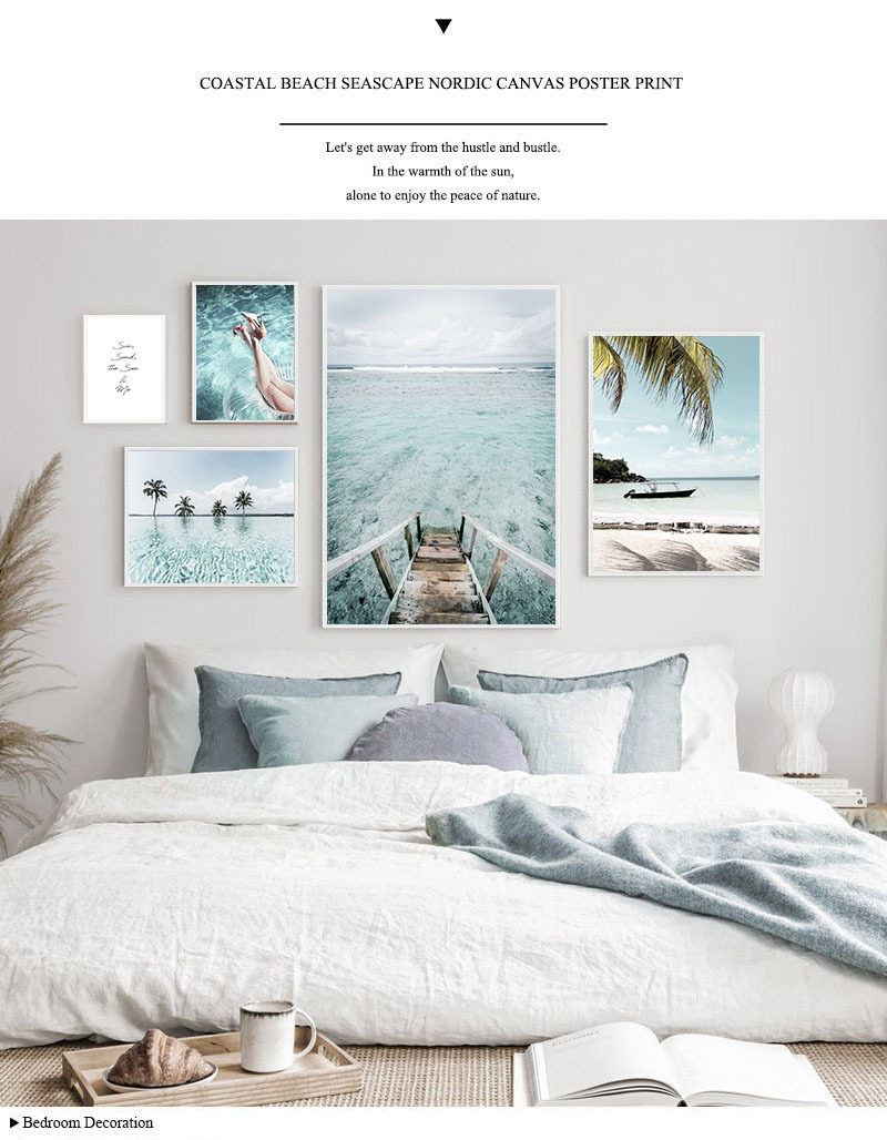 Maldives sea scenery Paintings HD Print on Canvas Home Decor Wall Art Picture