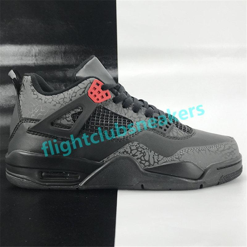 Jumpman 4 4s mens basketball shoes metallic purple green OVO Splatter black elephant print bred encore men sport Sneakers US 7-13