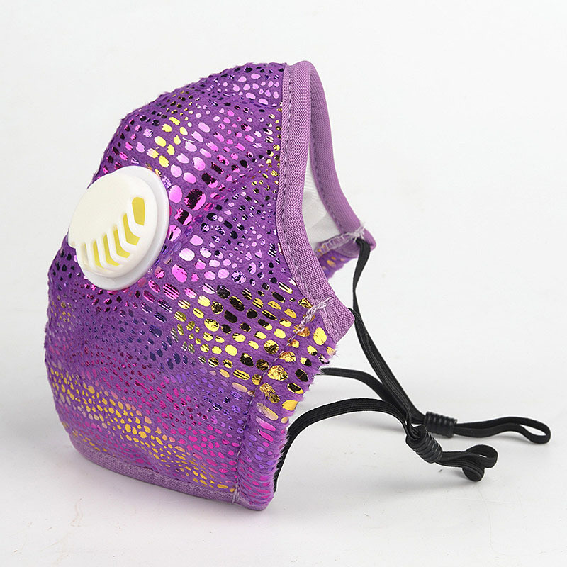 Fashion Masks For Women 2020 New Bling Bling Cloth Face Mask With 2 Filters Dust-proof Breathable Washable Face Mask Reusable