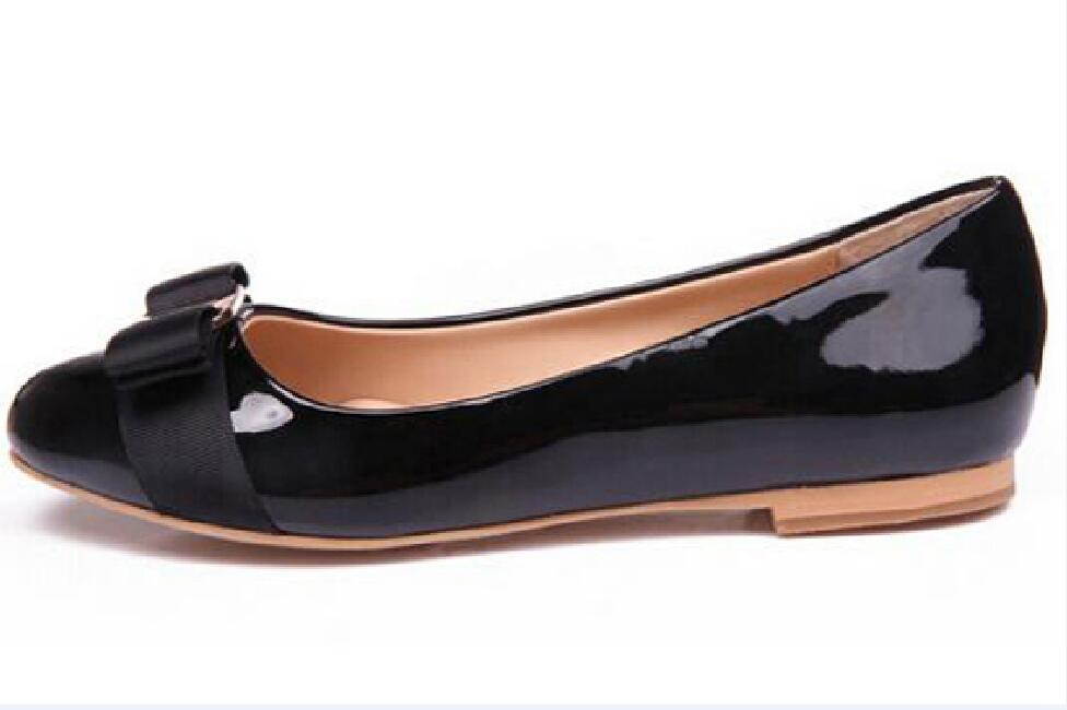 Hot sell Women Flats Genuine Leather Ballet Shoes Woman Bow Tie Flats Ladies Zapatos Mujer Sapato Feminino