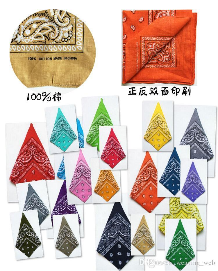 DHL Paisley Cowboy Bandanas Hip hop polyester Cotton Handkerchief Double sided Printed Square handkerchief for Men Women