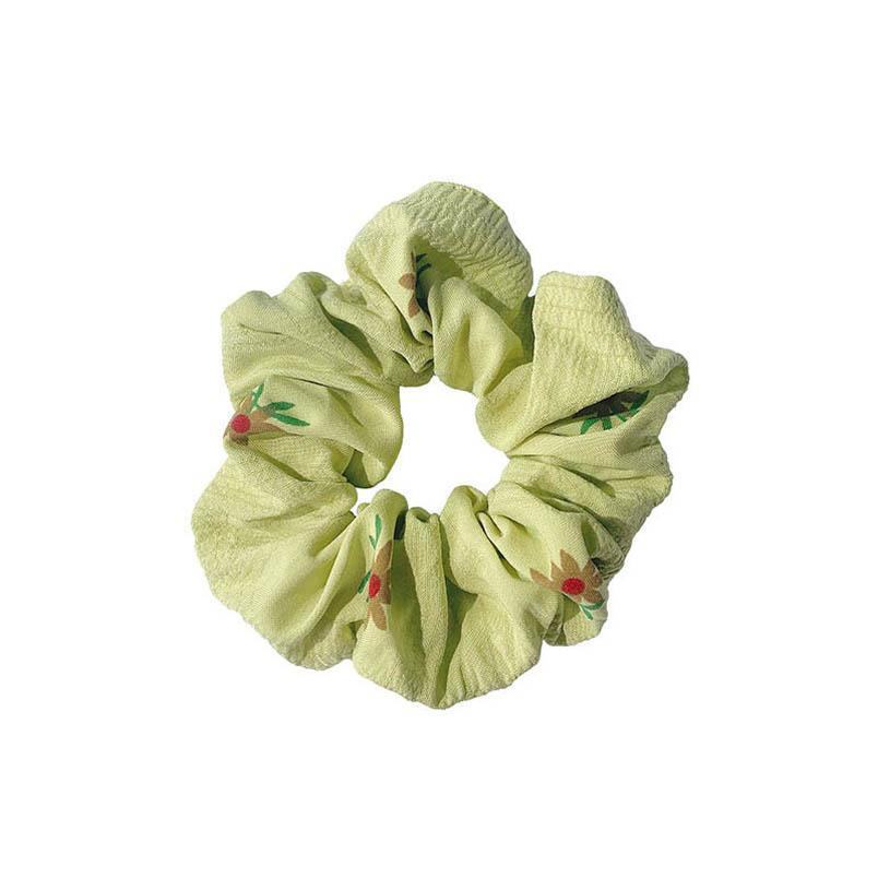 Ins hot sale flower women hair scrunchies fashion girls scrunchies women hairbands sweet hair accessories for women hair bands B1807