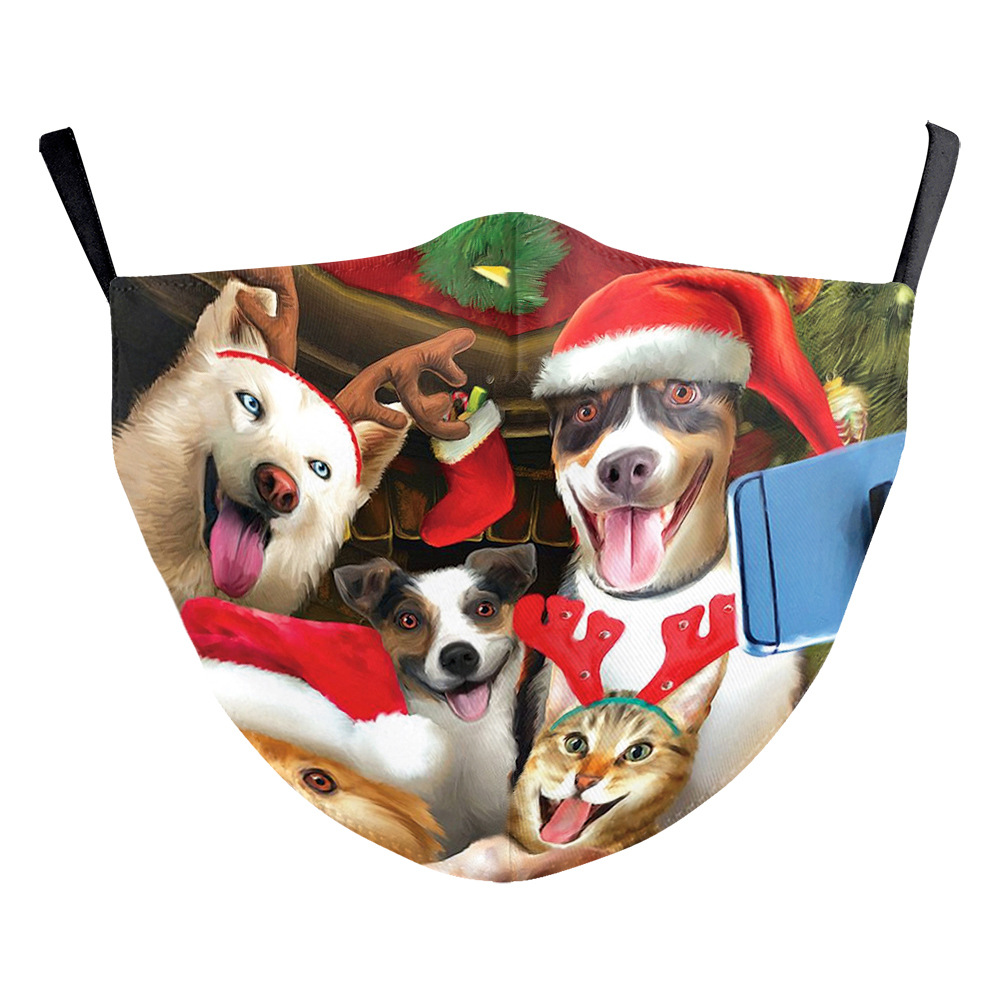 DHL 2020 designer face mask Adults washable comfortable mouth mask Animals cats dogs christmas Adjustable protective