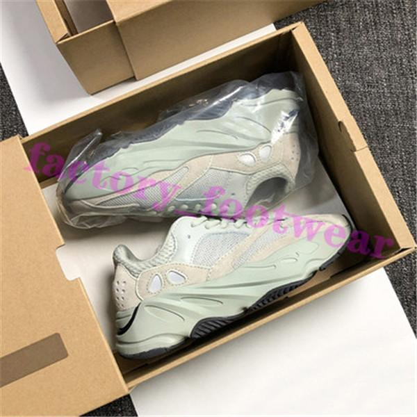 2020 Kanye West Hospital Blue 700 Static 3M Reflective Mens Women Running Shoes Wave Runner Inertia 700s Trainers Sports Sneakers Size 36-46
