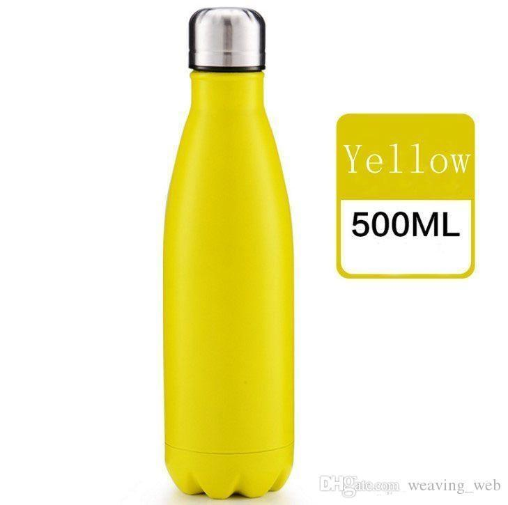 WHOLESALE Cola Shaped Bottle Insulated Double Wall Vacuum high-luminance Water Bottle 17oz 500ml Creative Thermos bottle