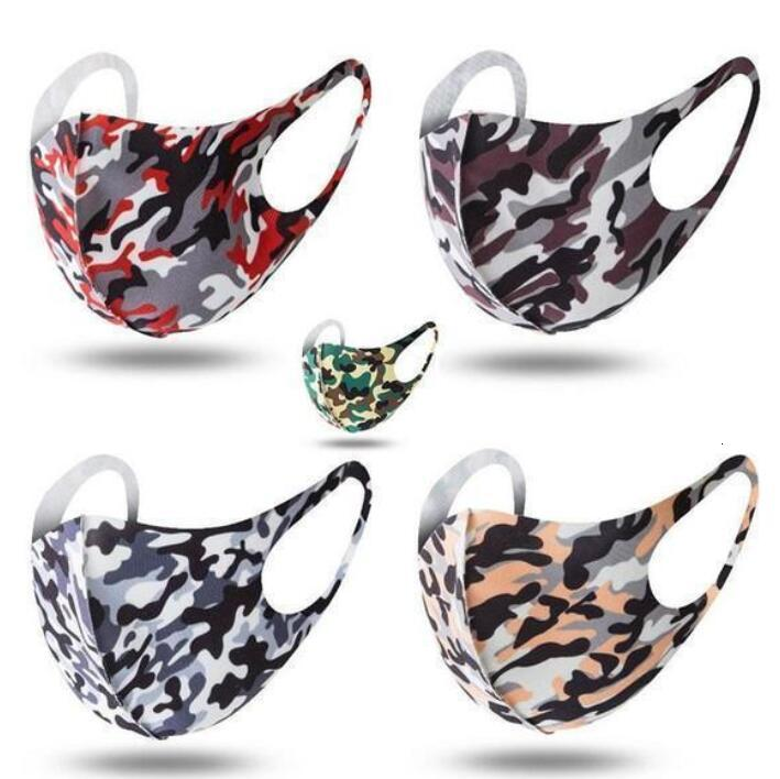 DHL SHIP 3D camo Designer Camouflage mask Washable Face mask Luxury Sunproof Dustproof Cycling Sports Mouth Cover Masks For Unisex