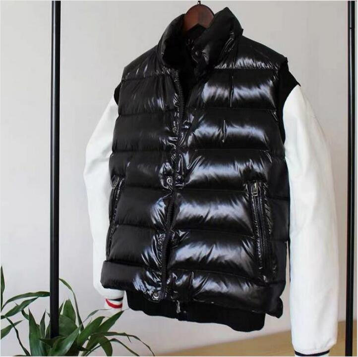 Down jacket vest men and women autumn and winter thick slimming shiny vest vest white duck down---season specials