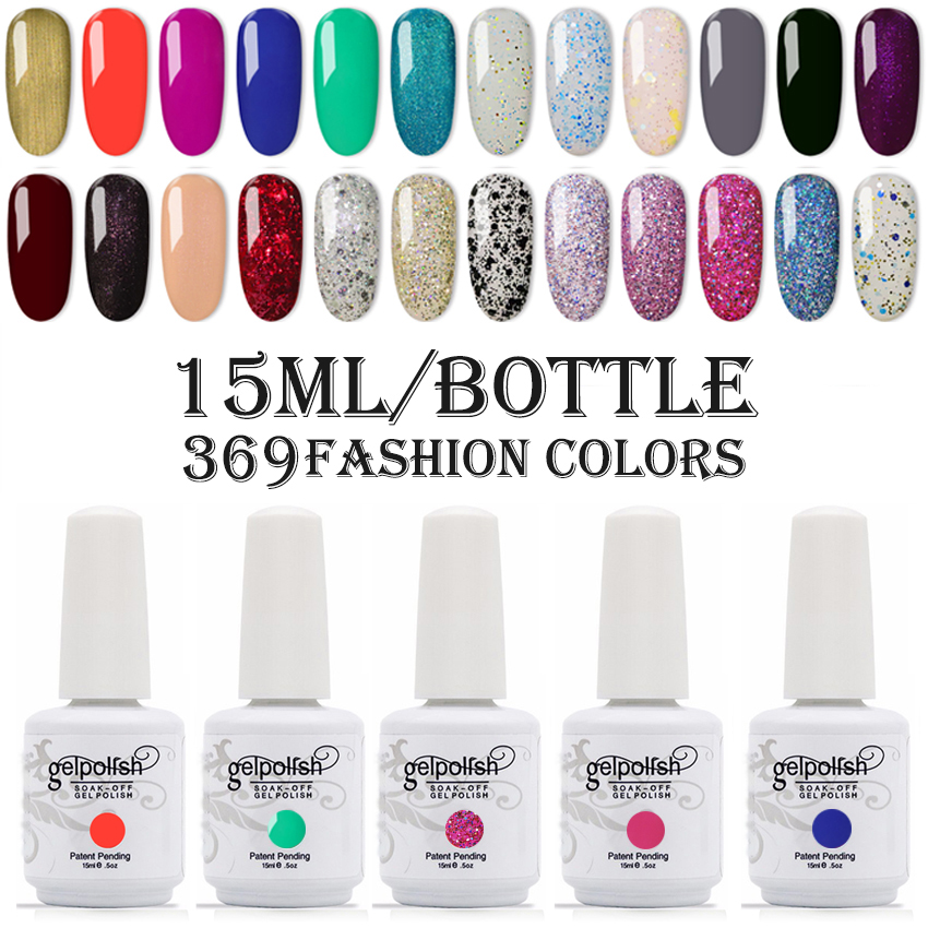 15ml Gel Polish Soak off UV Gel Nail Polish 300pcs/lot 489Fashion Colors Available