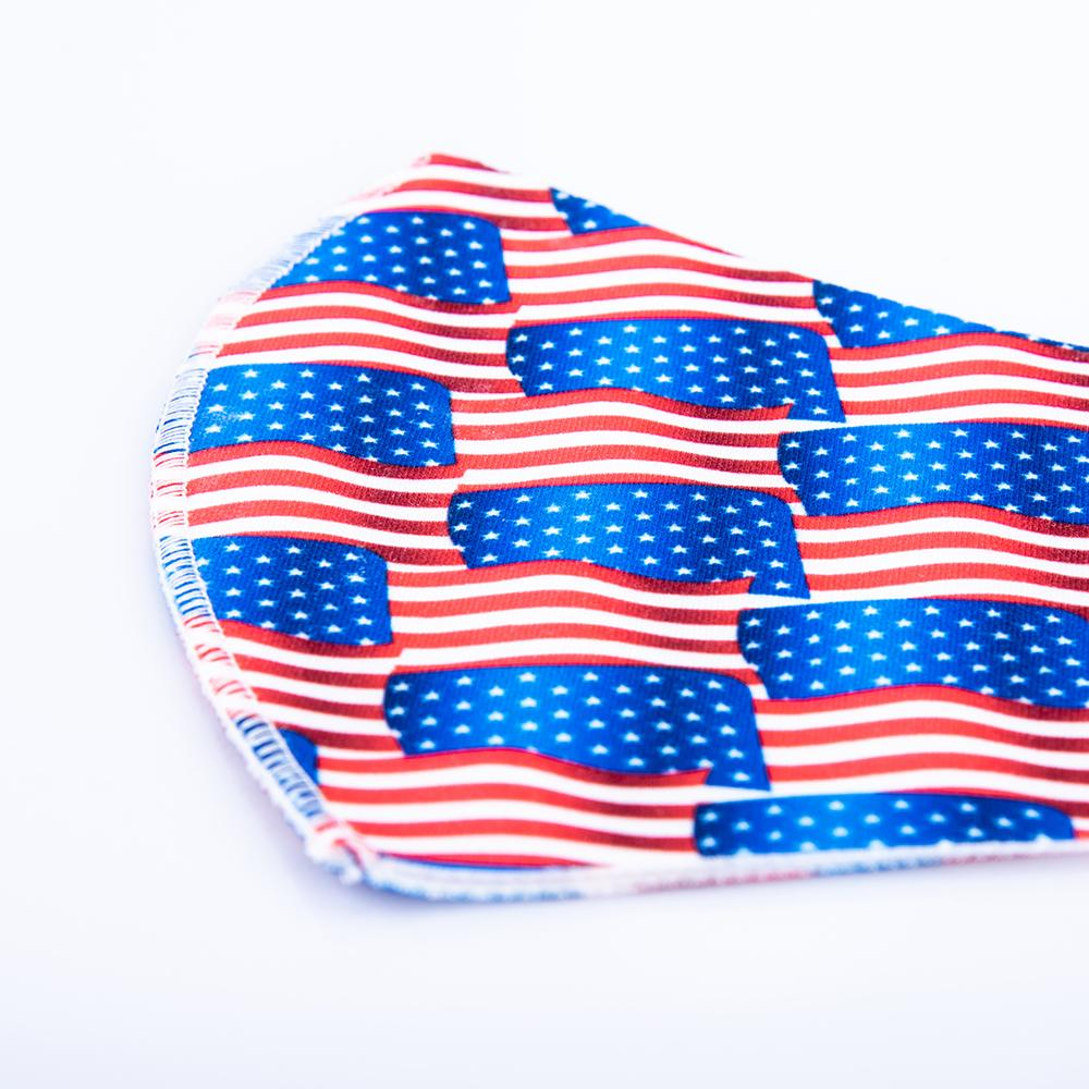 Adult Ice Silk American Flag Camo Print Face Masks Fashion Designer Mask Reusable Washable Protective Dustproof Earloop Cloth Masks