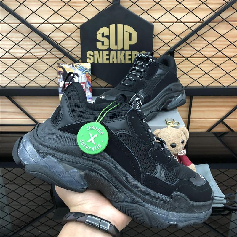 DHL 2020 Triple-s fashion Paris 17FW Triple s Sneakers for men women black red white green Casual Dad Shoes tennis increasing