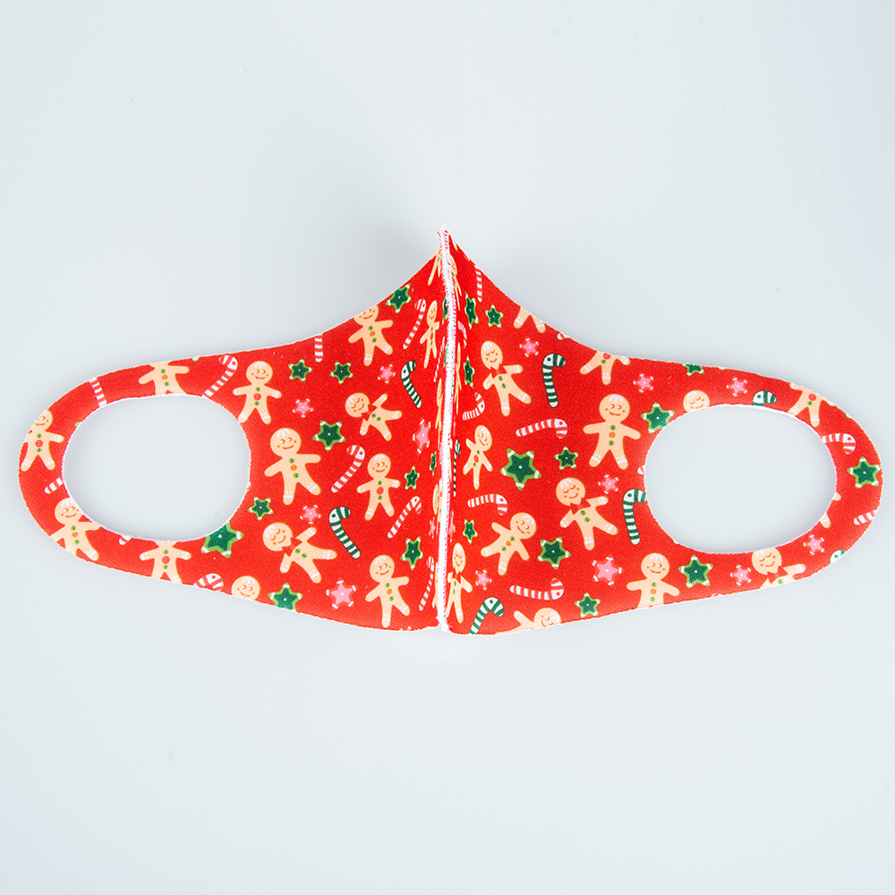 DHL Ship, Christmas Cartoon Print Washable Designer Face Mask Anti-Dust Reusable Protective Cotton Cloth Party Mouth Masks FY0082