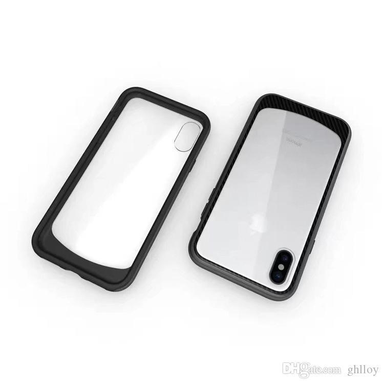 For Iphone 8 Case Clear Hybrid Soft TPU + Hard PC Bumper Back Cover For SamsungS8 S8 Plus iphone 8 7 7plu