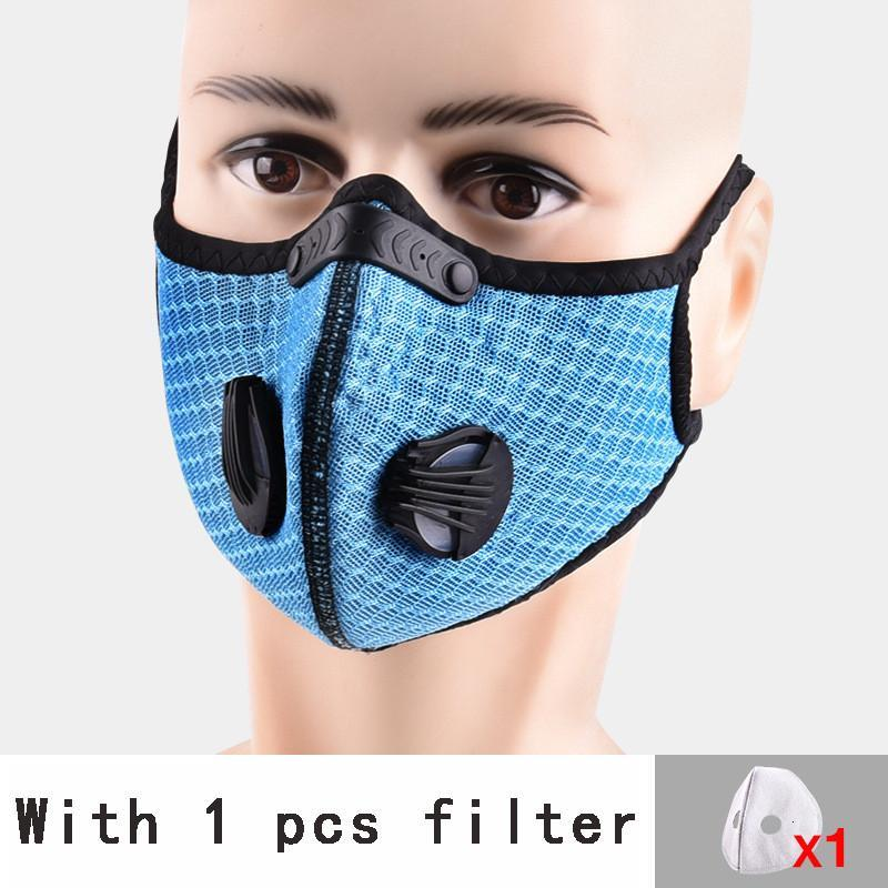 Washable Cycling Protective Face Masks With Activated Carbon PM2.5 Anti-Pollution Dust Sport Running Training Road Bike Reusable Masks