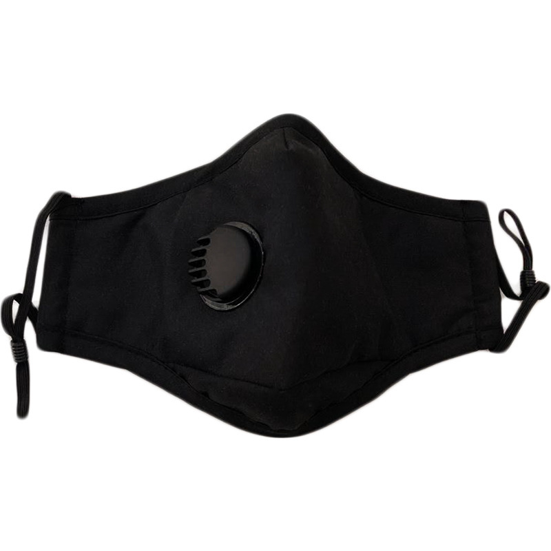 Reusable Unisex Cotton Face Masks With Breath Valve PM2.5 Mouth Mask Anti-Dust Fabric Mask Washable Mask With respirator free Filter