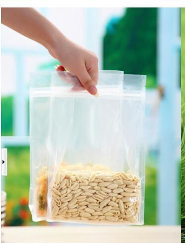 Clear Kitchen 12cm*22cm+5cm PET Organ Packaging Bag High Trasnparent Leisure Food Packing Valve Bag Snack Bag Standing Up Pouch