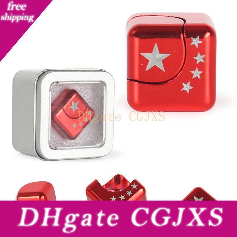 Set of 4 Pcs Candora New Square Cube Spinner Finger Fidget Gyro Desk EDC Decompression Toys