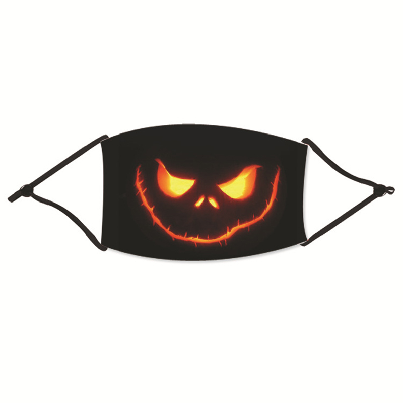 Halloween Face Masks For Adult Anti Pollution Fog Cotton Mouth Halloween Mask Reusable Washable Dustproof Protective Masks Party Masks