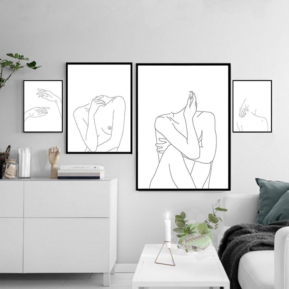 Abstract Nude Wall Art Canvas Print - HAUS OF CREATIVITY
