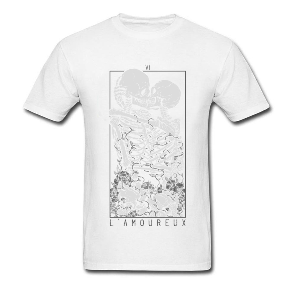 The Lovers Summer Autumn Pure Cotton Crew Neck Tees Short Sleeve Summer Clothing Shirt New Design Design T Shirt The Lovers white