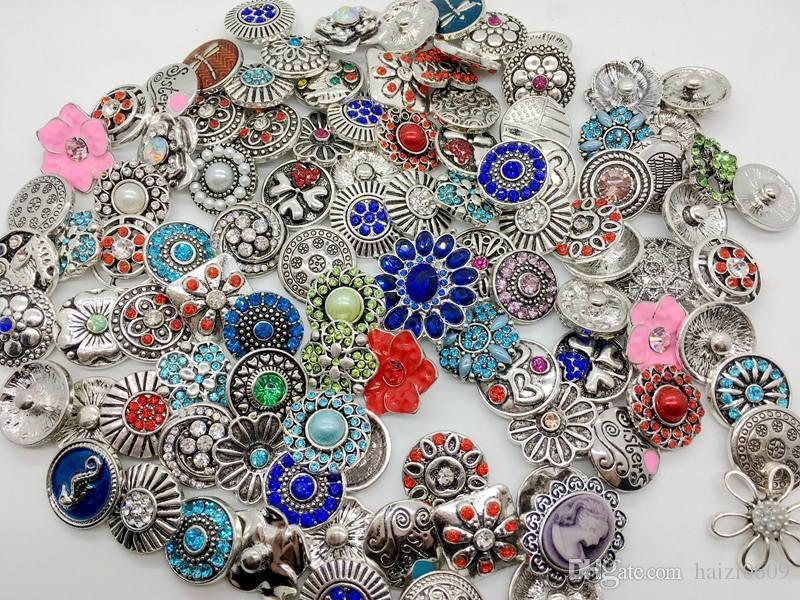 Wholesale Mix Style Snap Cham Button Interchangeable 18mm Diy Ginger Snap Jewelry Fit Snap Charm Bracelets Pendant Ring Etc
