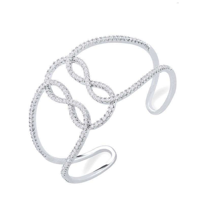 Fashion personalized alloy geometry bracelet with simple number 8 accessories Dylam jewelry