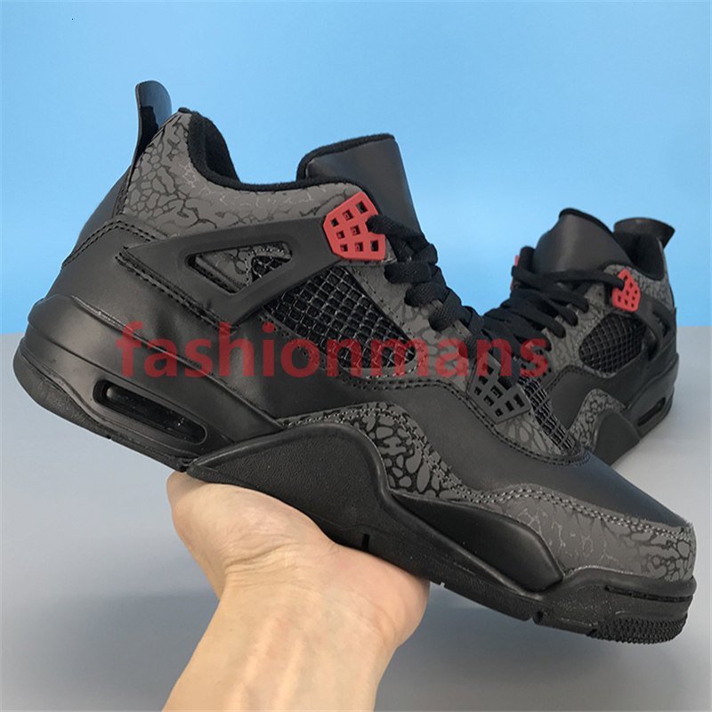2020 new 4 4s Jumpman basketball shoes OVO Splatter metallic purple red green bred black cat outdoor mens Sneakers US 7-13