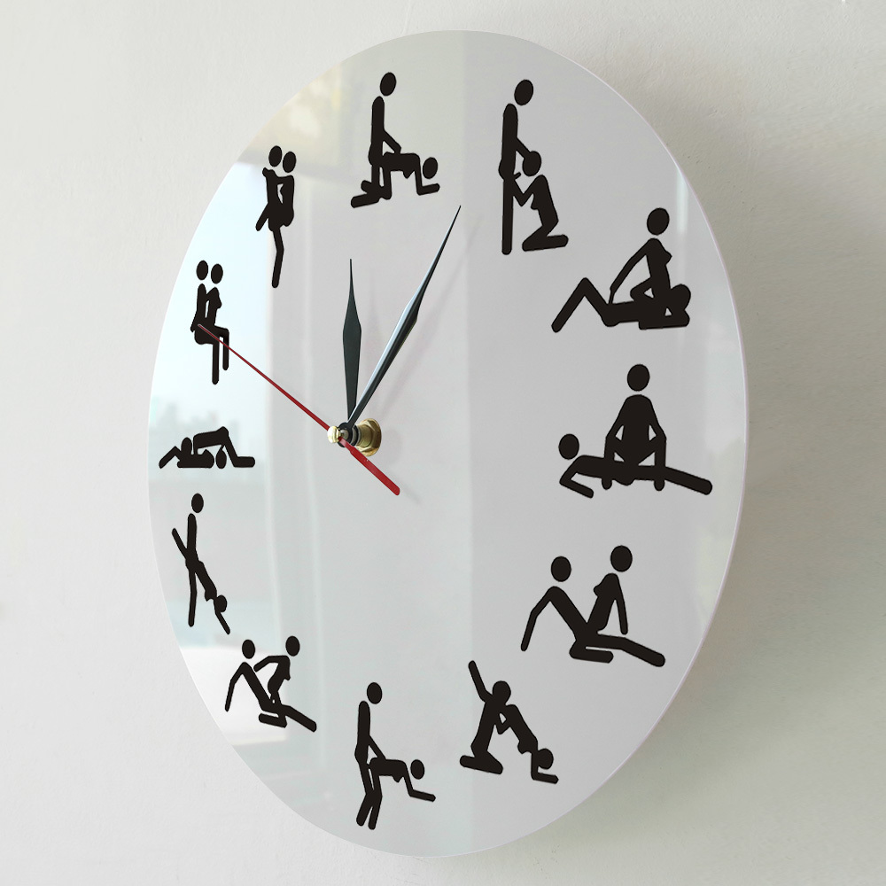 2021 Sexual Positions Wall Clock Adult Sex Game 24 Hours