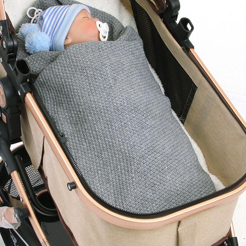 MOTOHOOD Kids Blanket Casual Baby Blankets Knitted Newborn Swaddle Wrap Soft Toddler Sofa Crib Quilt Baby Stroller Blanket (13)