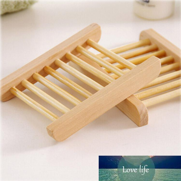 Natural Bamboo Soap Dish For Kitchen Bathroom Tray Holder Storage Rack Plate Container Portable Shower Accessories