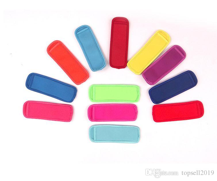 Popsicle Holders Pop Ice Sleeves Freezer Pop Holders 15x4.2cm for Kids Summer Kitchen Tools popsicle sleeve SN084