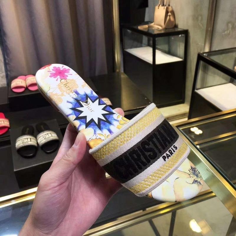 2020 lusso Design Leather Ladies Sandals Summer Flat Slipper fashion beach woman Big head Slipper Rainbow letters slippers Hococal 35-42