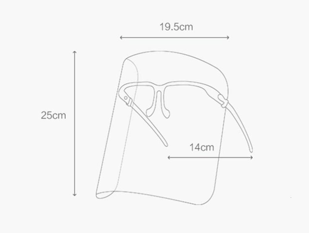 US Stock ! Wholesale Clear Face Shield Anti-Oil Splash Eye Protection PVC Shield Face Mask Anti-fog Protector Reusable Mask Kitchen Cooking