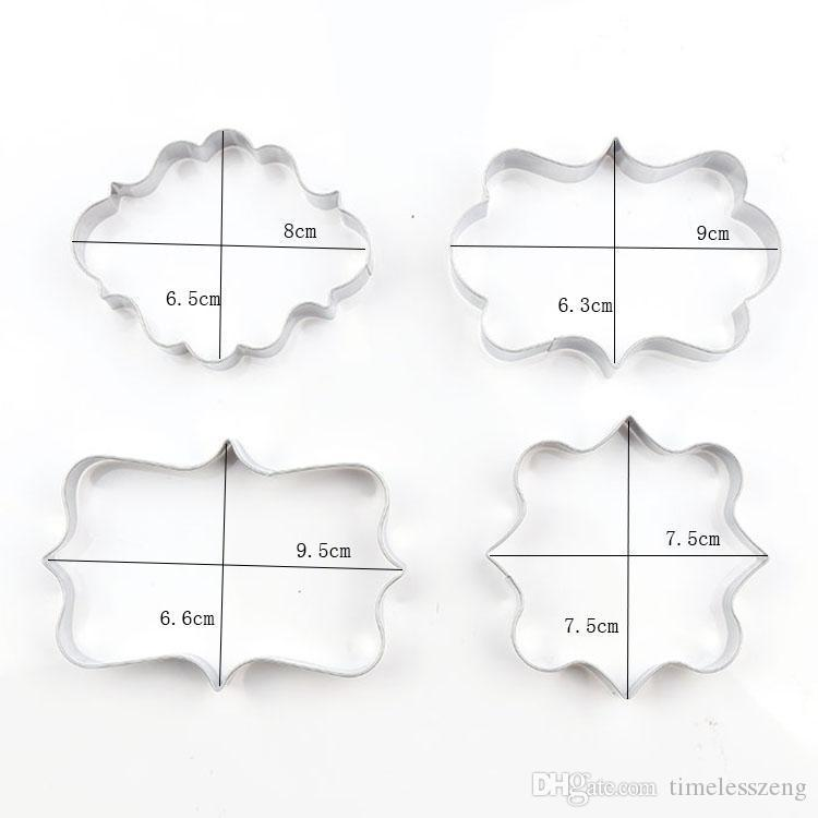 Delicate benediction message board shape cookie mould DIY stainless steel cake mould mold baking tools only mould free ship