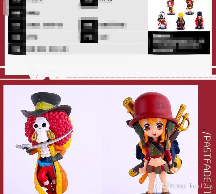 Cool 3D Anime One Piece PVC Action Figures Cute Figure Toys Dolls Model Collection Toy Brinquedos