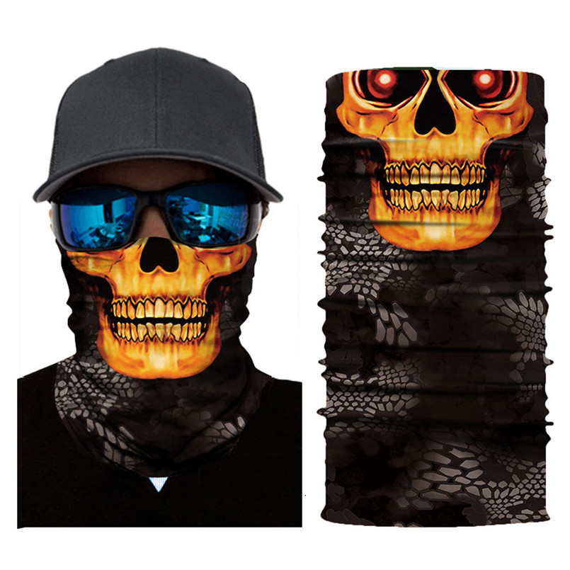 Skull Face Mask Scarf Halloween Party Face Mask Bike Face Mask Ghost Balaclava Masks Cycling Motorcycle Head Scarf Neck #F30ST02 (5)