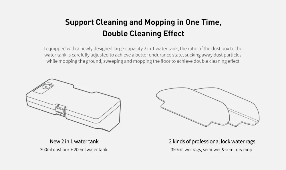 VIOMI V2 PRO LDS 2 in 1 Sweeping Mopping Dust Collector, Home floor Carpet Smart Robot Vacuum Cleaner,Quiet, Mijia APP Control 3