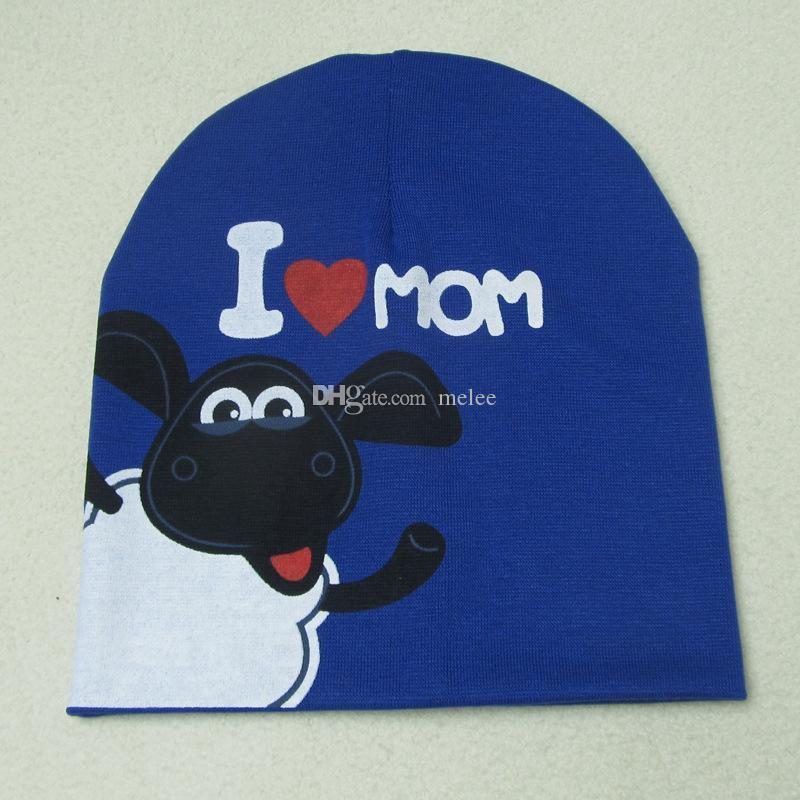0-2 years I love MOM Love DAD cotton baby hat cap Girl Boy Candy Color Lovely kids Baby Beanies Accessories free fedex ship