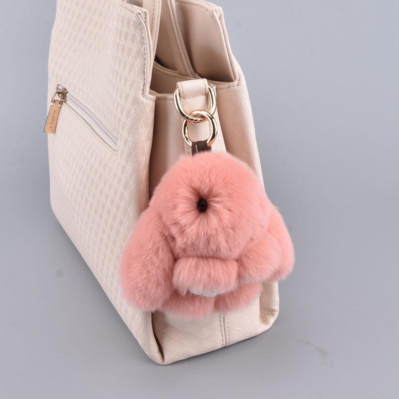Mini Plush Pig Doll Pendant Key Ring Animal Charms PomPom Keyring Handbag Deco X