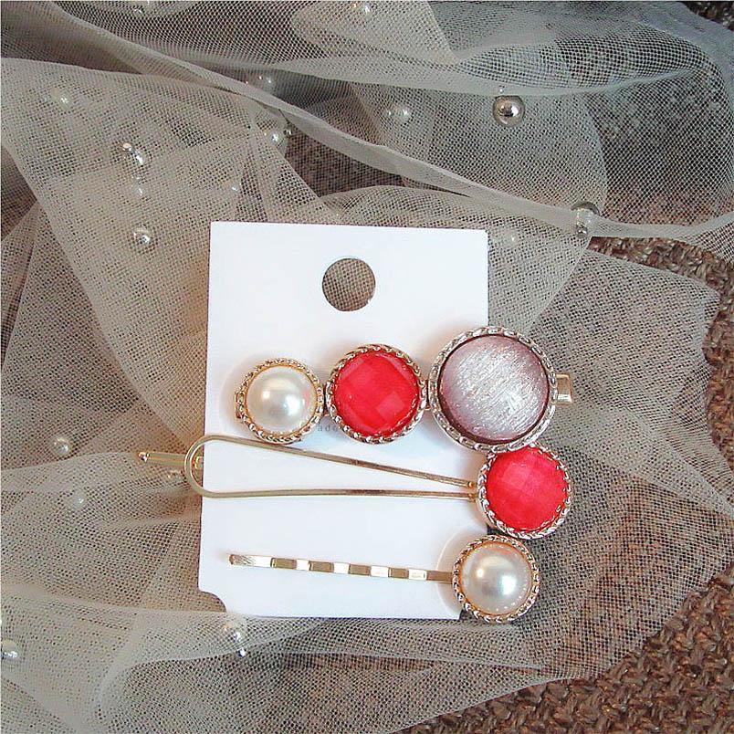 Ins diamond women hair clips fashion pearl women designer hair clips girls barrettes hair accessories for women BB clip B1694